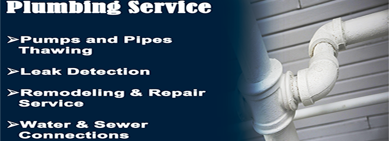Plumbing Service Septic Pump Pipe Thawing Leak Detection Remodeling and Repair Water and Sewer Connection Plumbing Service